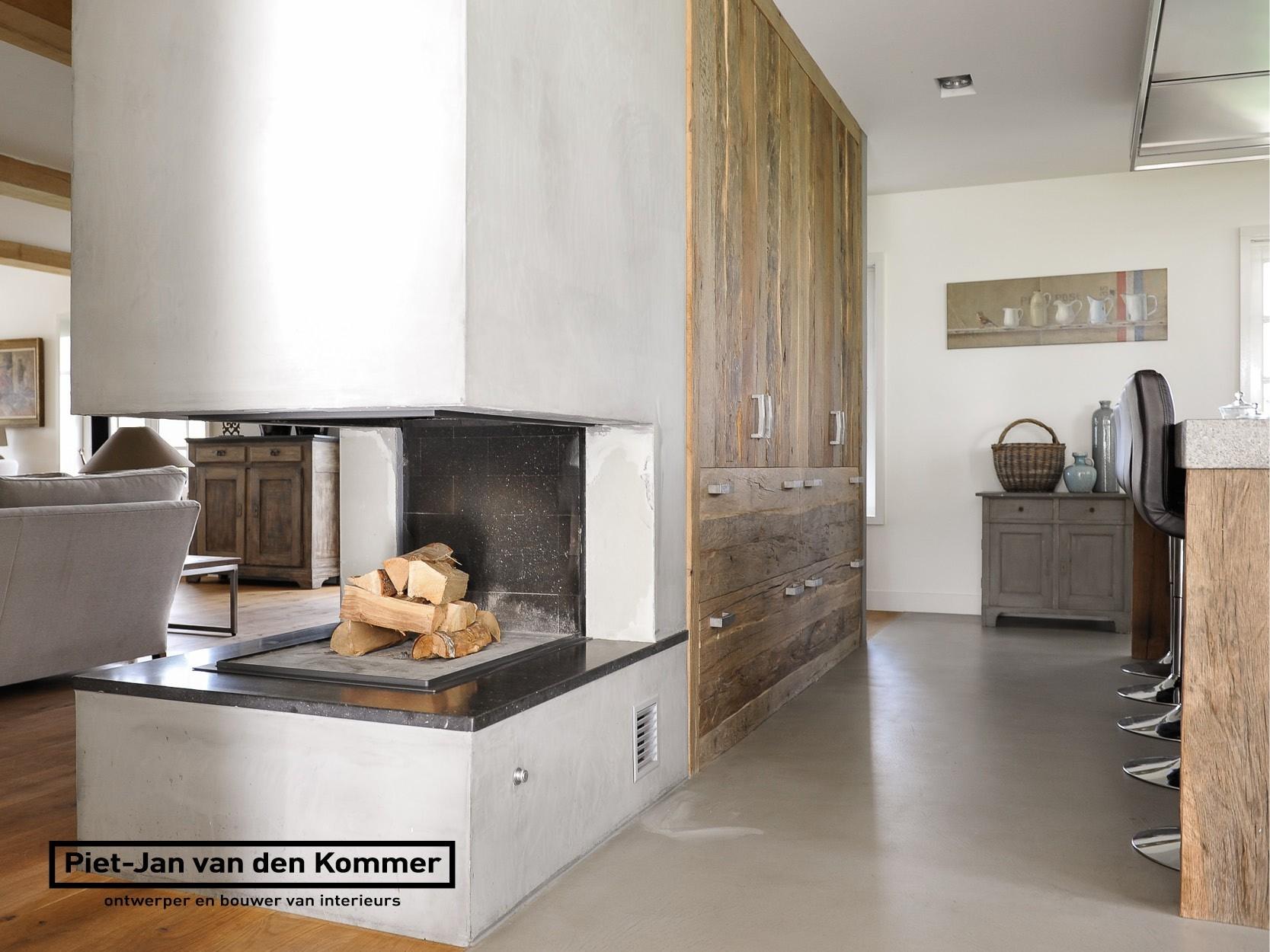 Openhaard In Woonkamer : Luxe woonboerderij piet jan van den kommer openhaard keuken