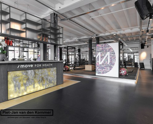 Interieur door Piet-Jan van den Kommer voor iMove for Health Zaandam