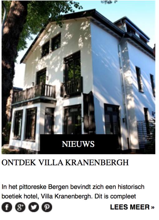 Ontdek Villa Kranenbergh- Residence | van den Kommer